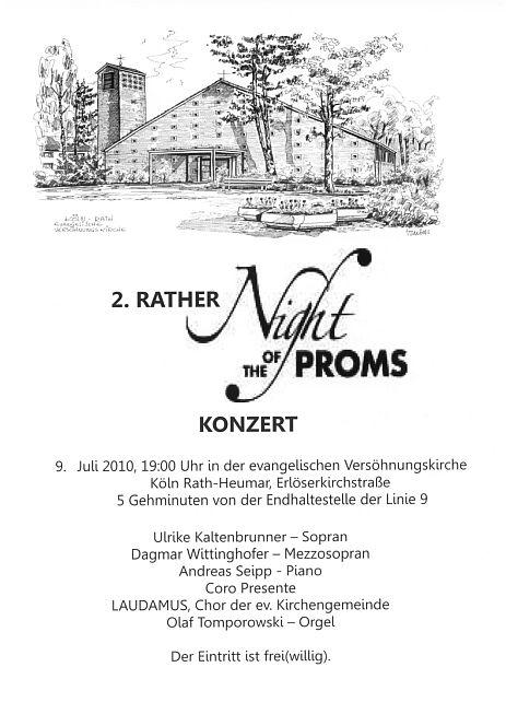 Schriftzug Rather Night of the Proms + Bild Rather Erlser Kirche